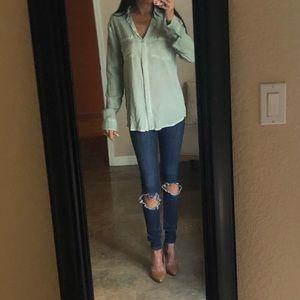 Beachlunchlounge Soft Green Button Down Shirt